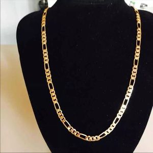 Other - New 18k gold plated figaro chain necklace